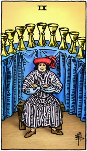 tarotkaart kelken 9