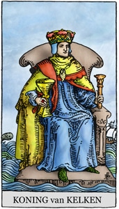 tarotkaart koning kelken