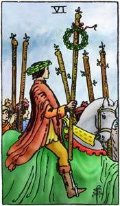 tarotkaart staven 6