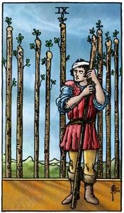 tarotkaart staven 9