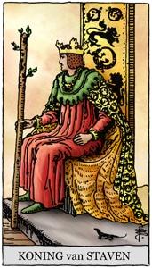 tarotkaart staven koning