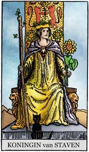 tarotkaart staven koningin