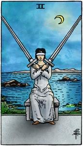 tarotkaart zwaarden 2