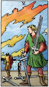 tarotkaart zwaarden 5