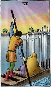 tarotkaart zwaarden 6