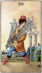 tarotkaart zwaarden 7