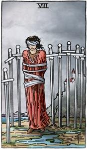 tarotkaart zwaarden 8