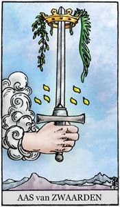 tarotkaart zwaarden aas