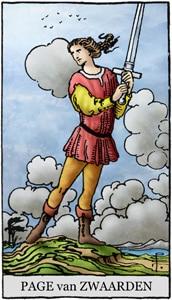 tarotkaart zwaarden schildknaap page