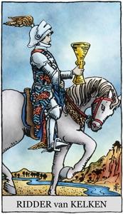 Ridder van kelken tarot kaart geeft liefde