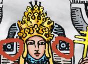 zon op tarotkaart hogepriester