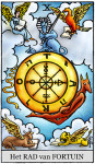 Tarot dagkaart advieskaart rad van fortuin