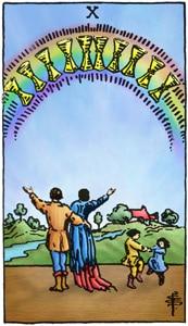 Tarot Online Kelken Tien