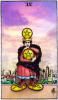 Tarot Online Pentakels Vier