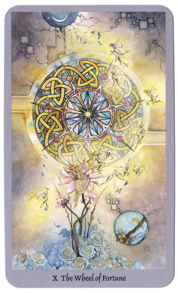 shadowscapes tarotkaart rad van fortuin