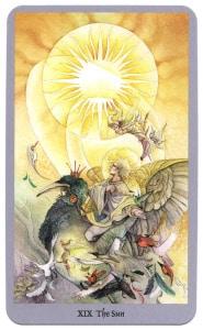 tarotkaart de zon krachtig en machtig shadowscapes