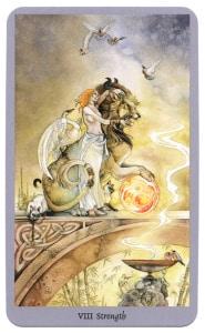 8-Strength tarotkaart