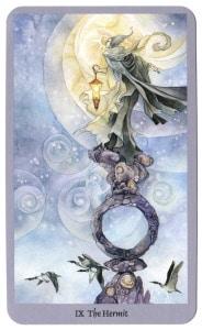 kluizenaar heremiet shadowscapes tarotkaarten