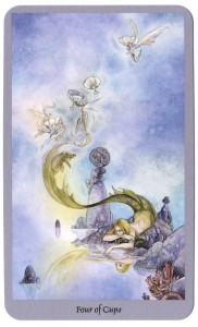 tarotkaart kelken vier shadowscapes