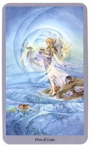 Shadowscapes tarotkaart kelken vijf