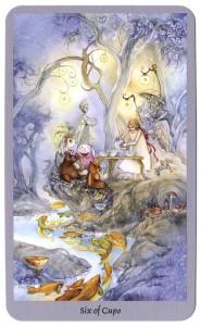 shadowscapes tarotkaart kelken zes