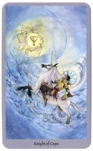 tarotkaart ridder van kelken droomt grootse dromen