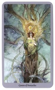 koningin pentakels tarotkaart