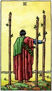 tarotkaart staven 3 online tarotcursus
