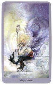 shadowscapes tarotkaart koning van zwaarden verrukt
