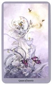 Koningin zwaarden tarotkaart shadowscapes tarot