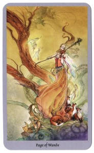 shadowscapes tarot page van staven