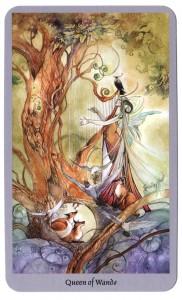 Shadowscapes tarotkaart koningin van staven