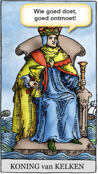 tarotkaart koning kelken citaat