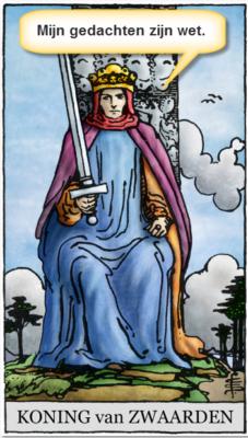 tarotkaart koning zwaarden mijn gedachten zijn wet