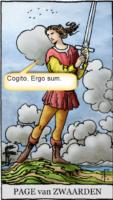 tarotkaart page van zwaarden motto