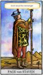 De Tarot schildknapen en hun motto's