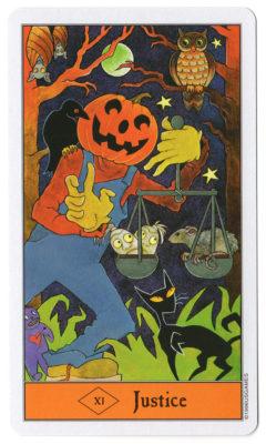 halloween tarot gerechtigheid
