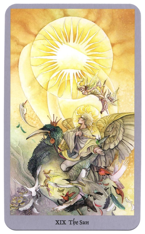 tarotkaart de zon uit de shadowscapes tarot