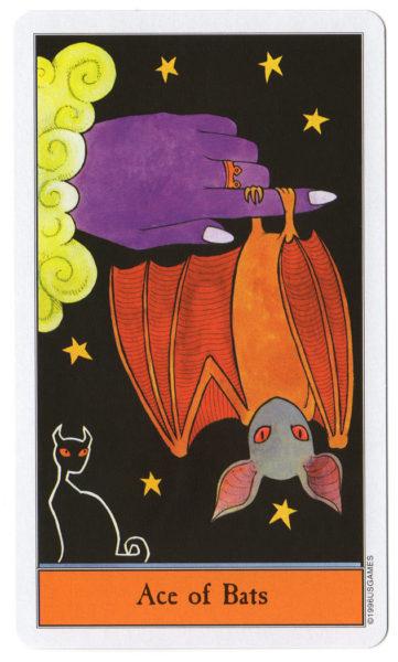 halloween tarot vleermuizen aas