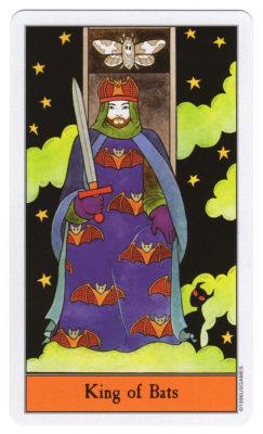 halloween tarot vleermuizen koning