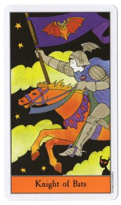 Ridder van vleermuizen halloween tarot
