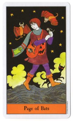 halloween tarot page vleermuizen