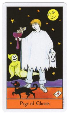 halloween tarot spoken page