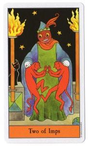 tarotkaart imps 2 staven 2 houdt op met kibbelen