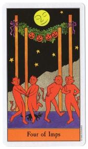 tarotkaart staven 4 feesten op halloween