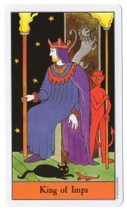 tarotkaart koning van impen staven entrepreneur bij uitstek