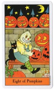 halloween tarot pompoenen 8