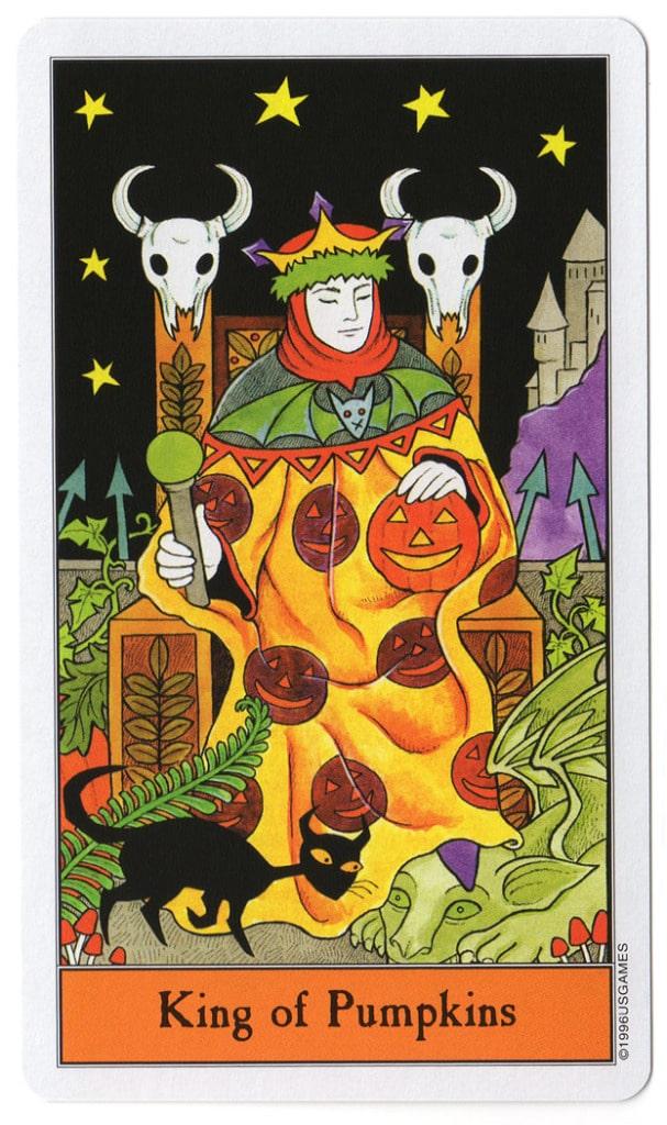 halloween tarot pompoenen koning