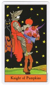 halloween tarot pompoenen ridder