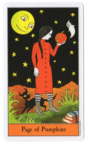 halloween tarot pompoenen page